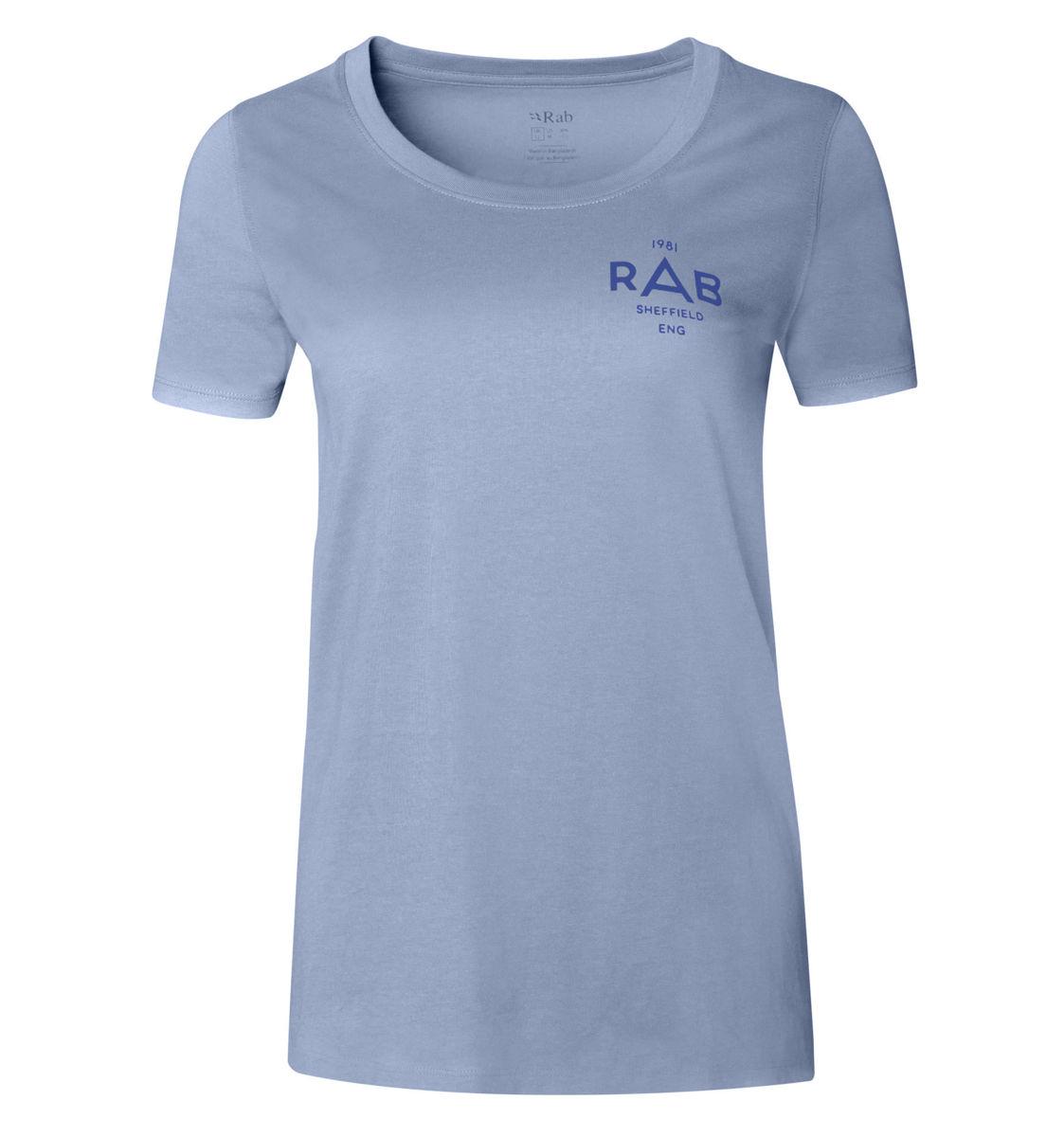 Blå T-skjorte til dame med logo