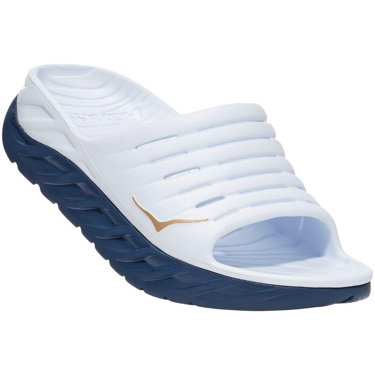 Hvit slippers med blå såle til dame