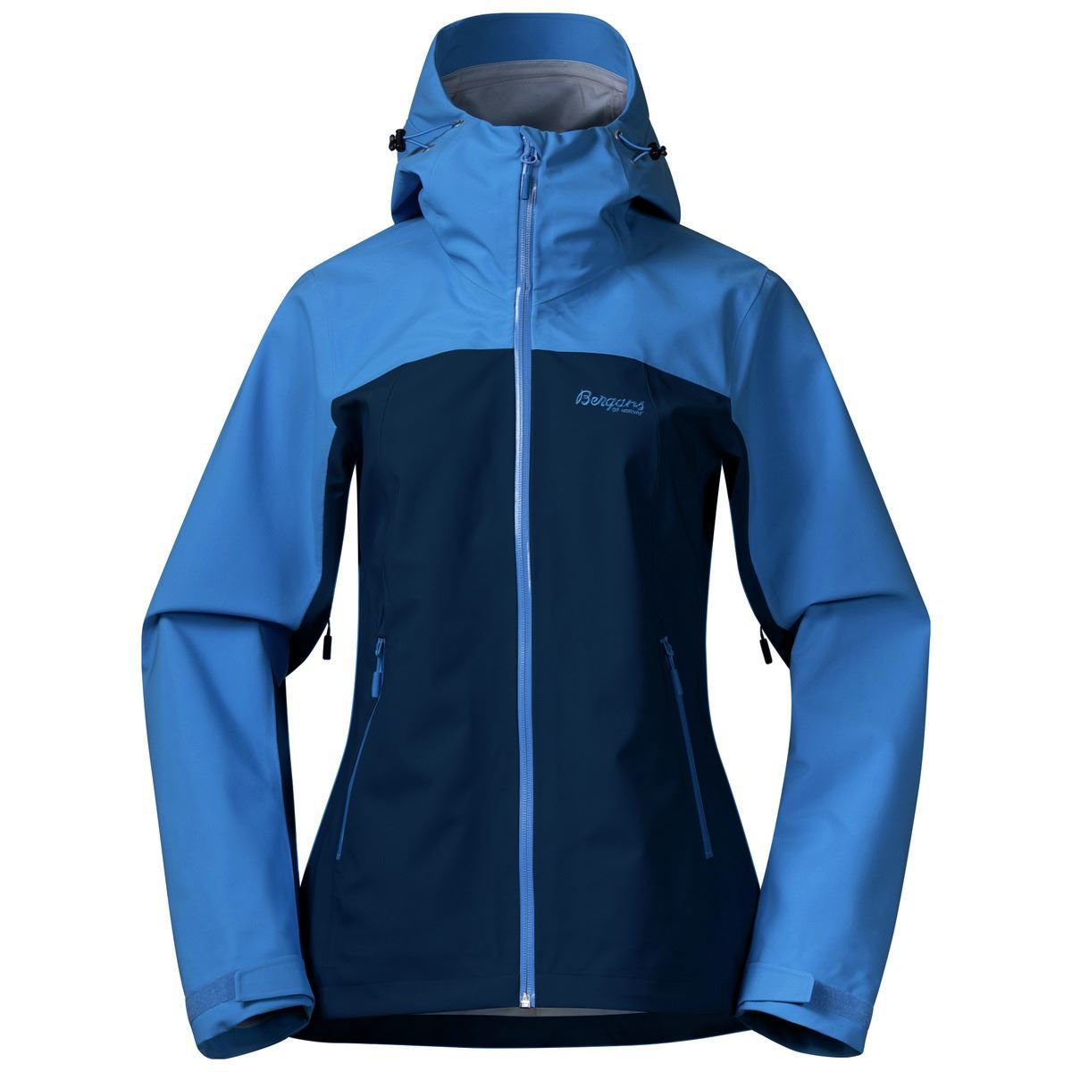 Tofarget blå vanntett jakke til dame