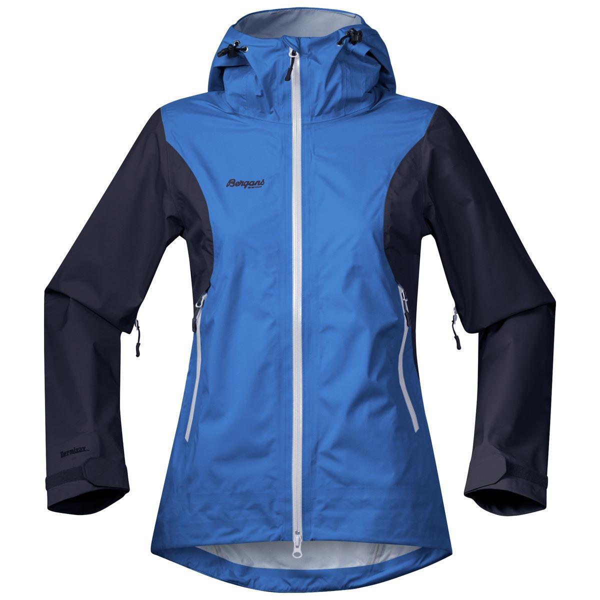 tofarget blå jakke til dame