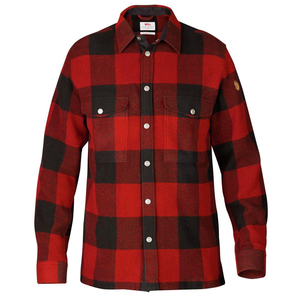 rød skjorte til herre