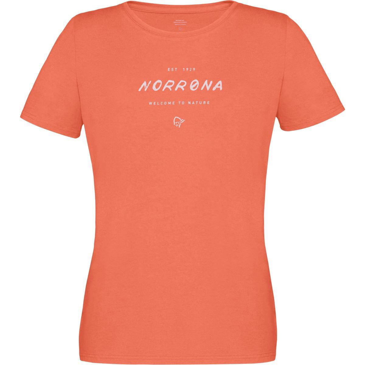 oransje t-skjorte til dame
