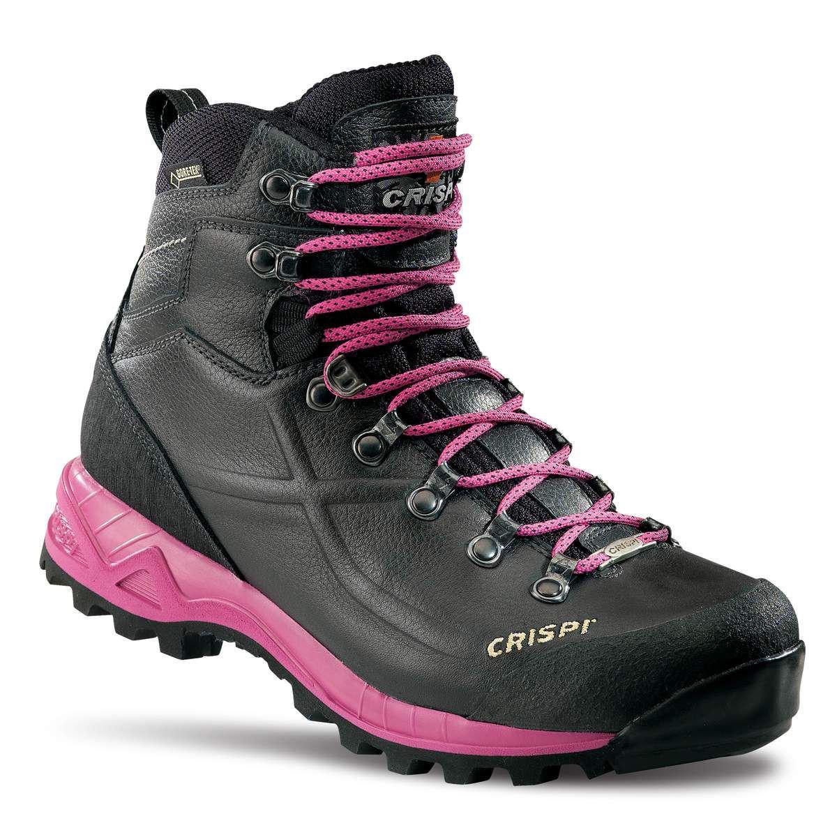 sort og rosa fjellstøvel til dame