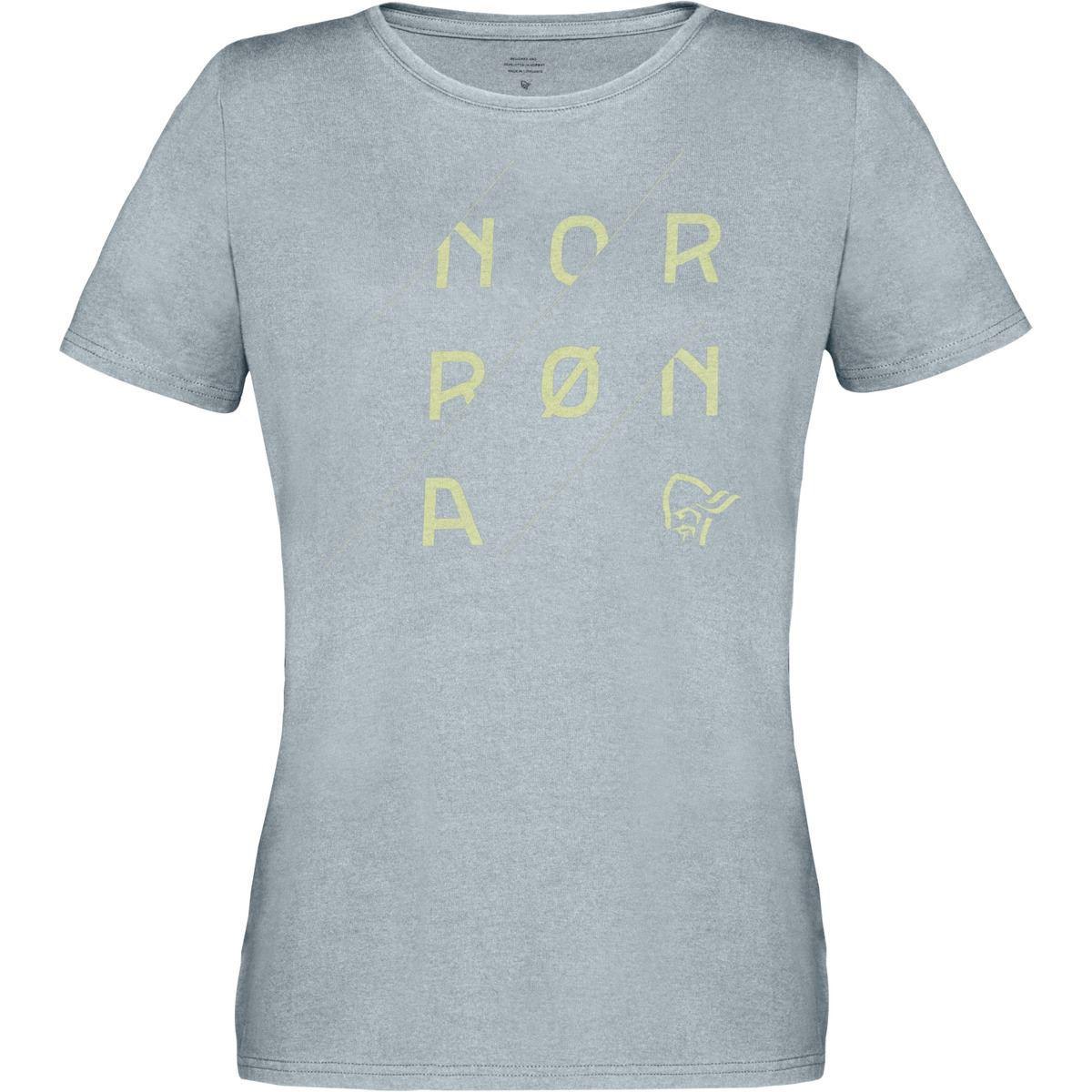 grå T-skjorte i bomull til dame
