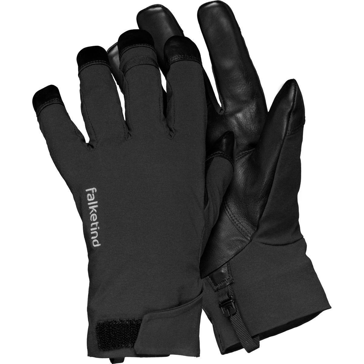 sorte, vanntette hansker