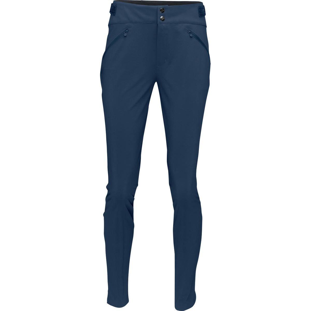 Blå turbukse til dame med smal passform