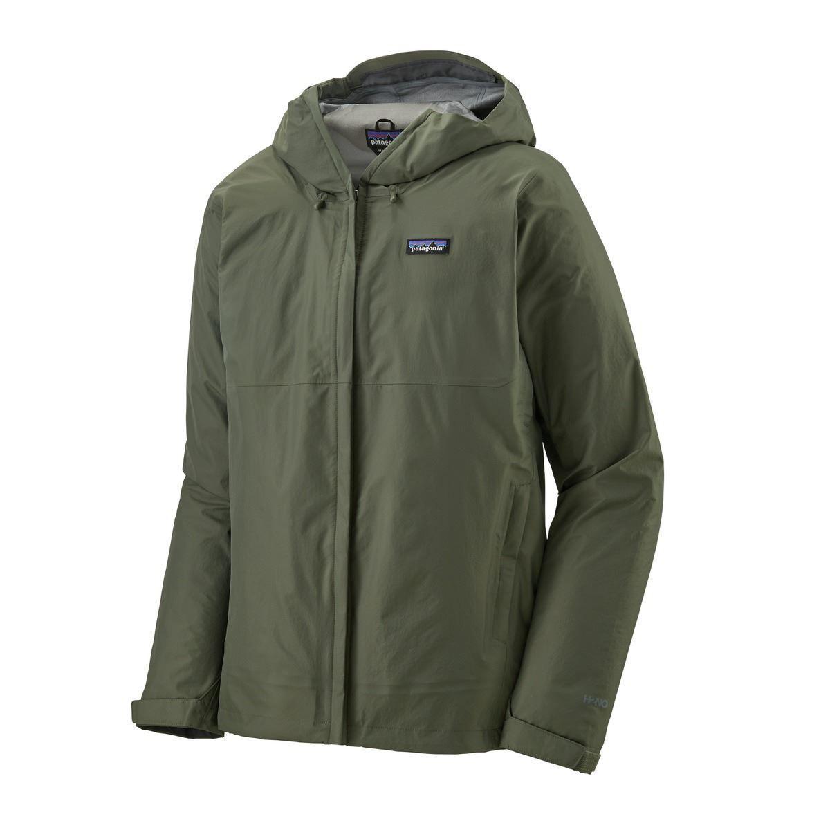 grønn, vanntett jakke til herre