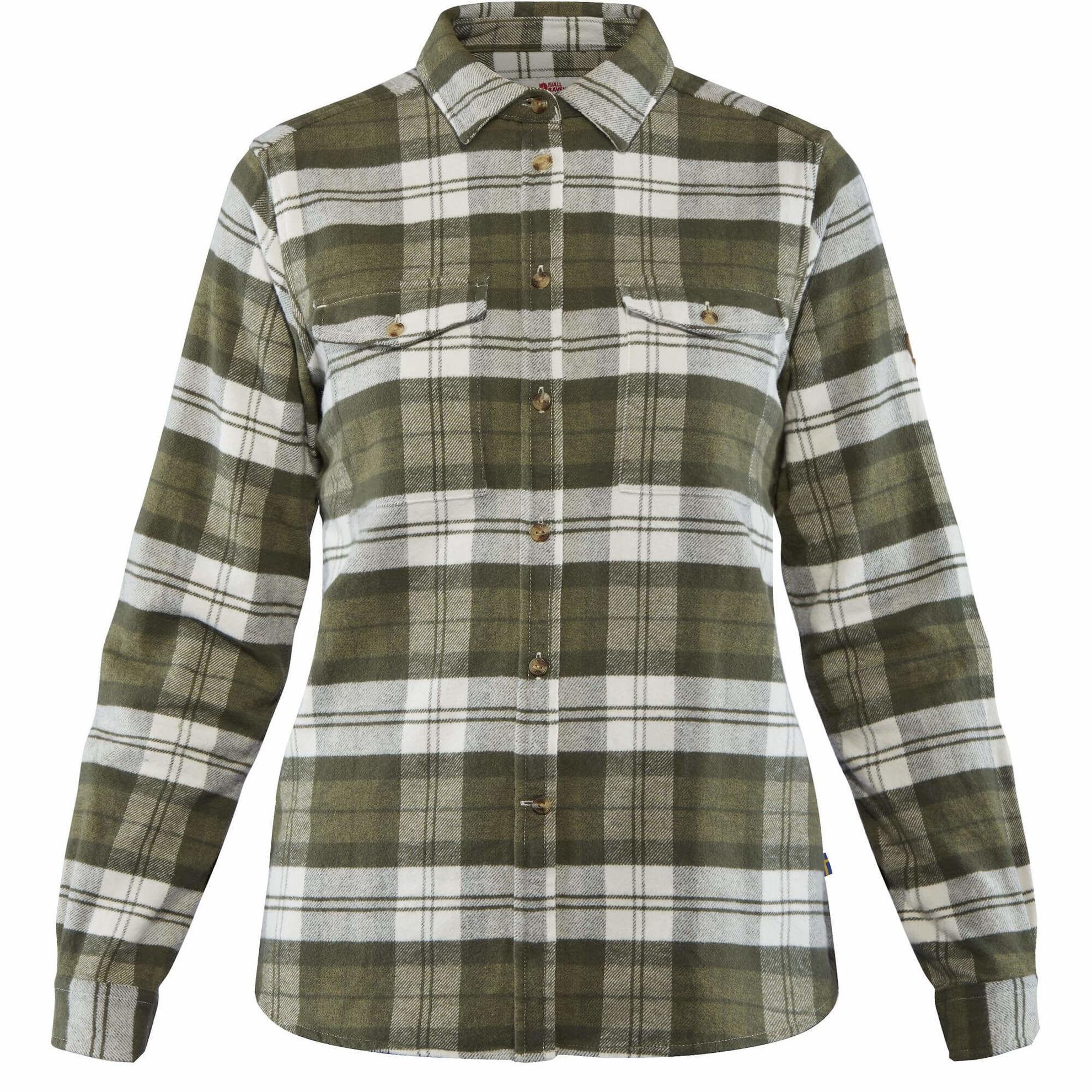 flanellskjorte til dame