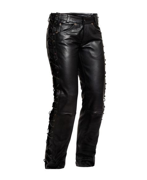 Bilde av SALG String Jeans mc bukse skinn dame Jofama