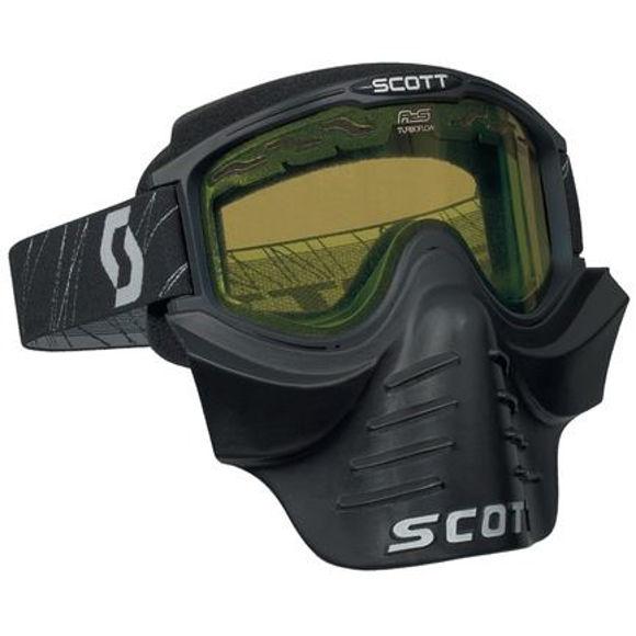 Bilde av Scott 83X Safari Facemask Goggle snøscooter - gult glass i