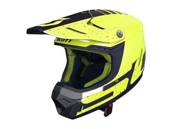 Bilde av Scott 350 Evo Team crosshjelm - gul/blå i