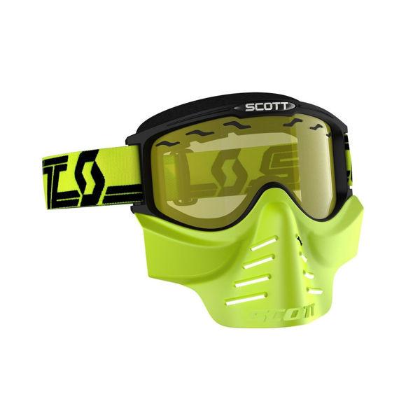 Bilde av Scott 83X Safari Facemask Goggle snøscooter gult glass - sort/gul i