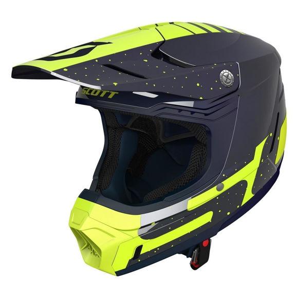 Bilde av Scott 350 Evo+ Team crosshjelm - blå/gul i