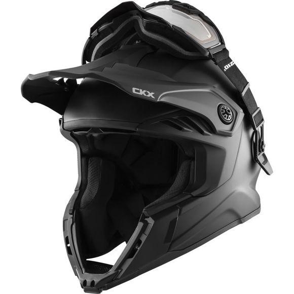 Bilde av CKX Hjälm + Goggles med elektrisk lins TITAN Airflow Matt svart /
