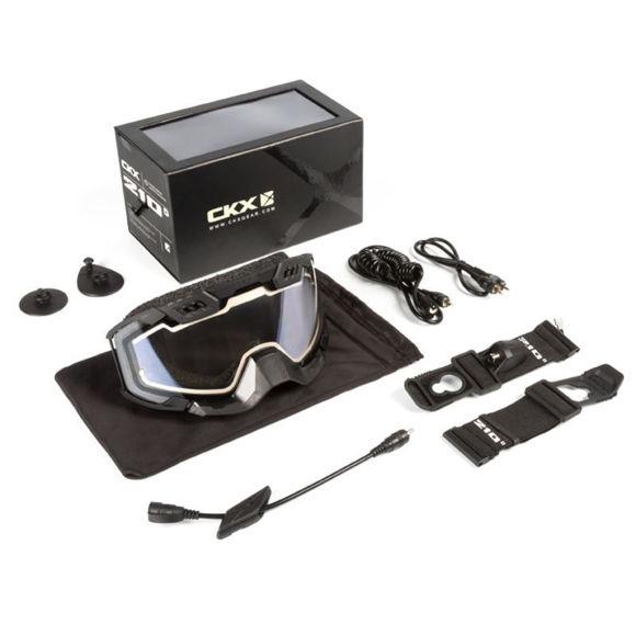 Bilde av CKX Goggle 210 ° elektrisk svart / klar linse