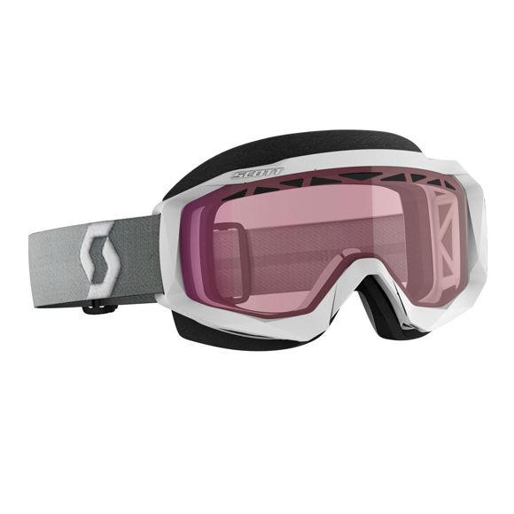 Bilde av Scott Hustle X SX  Brille rosa linse - Hvit/grå  i
