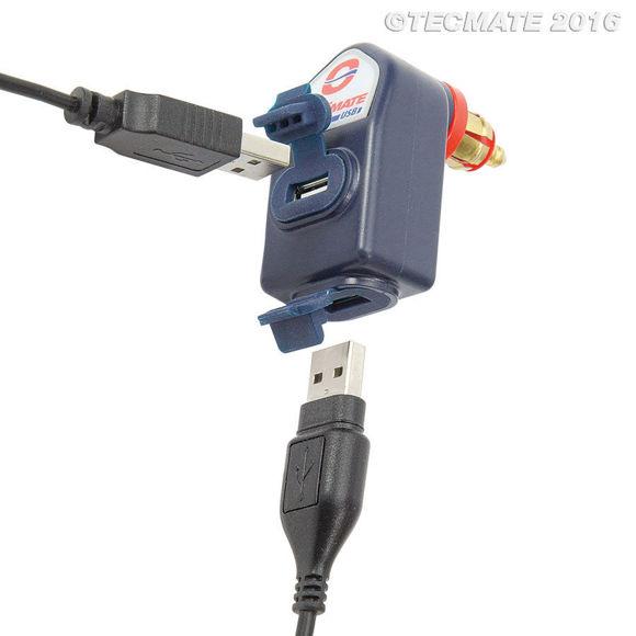 Bilde av 12V DIN - Dobbel USB lader 3300MA