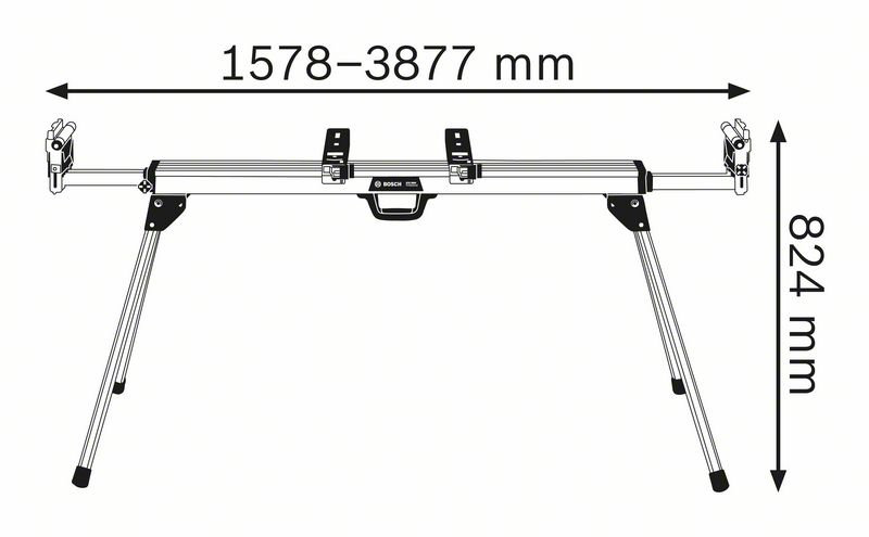 BOSCH SAGBORD GTA 3800 DIMENSJONER