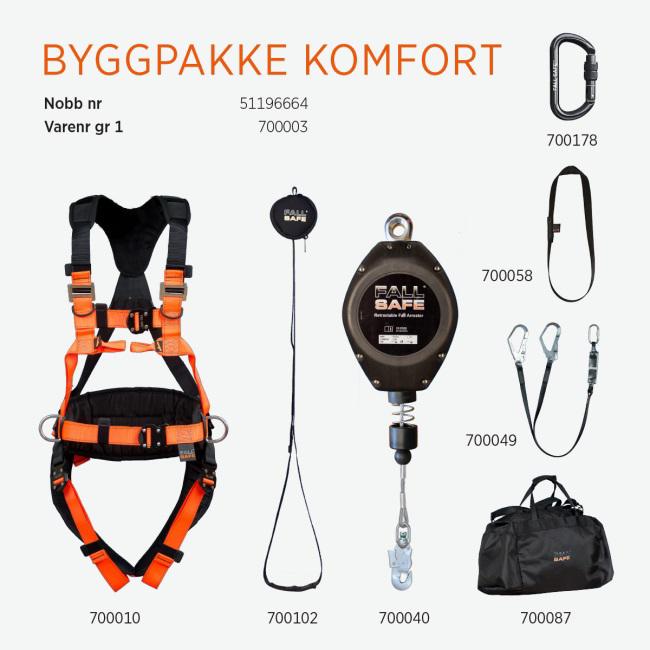FALL SAFE FALLSIKRING BYGGPAKKE KOMFORT