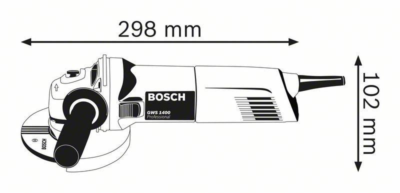 BOSCH VINKELSLIPER GWS 1400 M/DIAMANTSKIVE