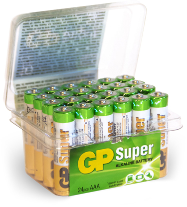 BATTERI GP SUPER 1,5V AAA 24-PK