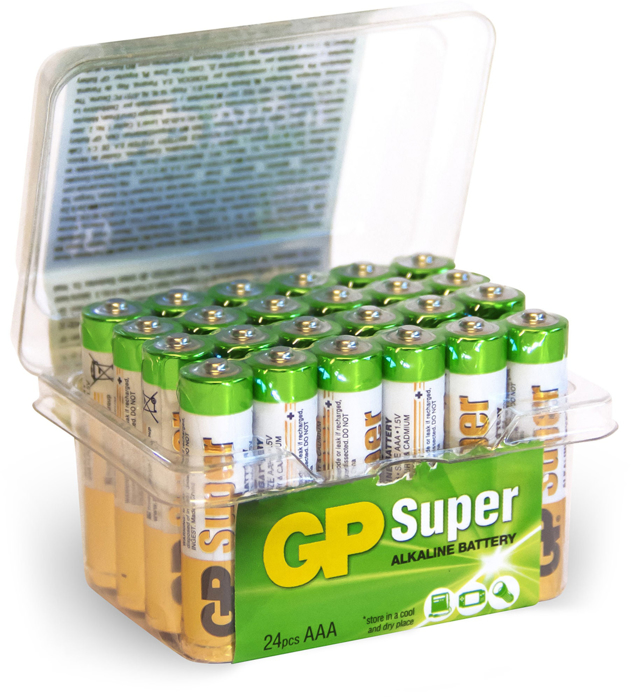 BATTERI GP SUPER 1,5V AAA 24-PK