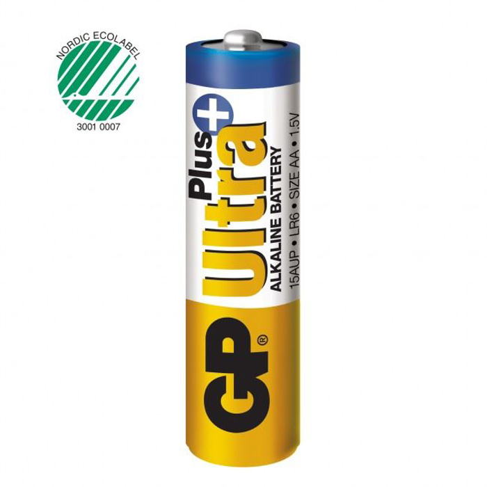 BATTERI GP ULTRA+ 1,5V AA 2PK