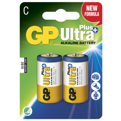 GP ULTRA+ BATTERI 1,5V D LR20 2PK