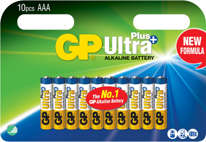 GP ULTRA+ BATTERI 1,5V AAA LR03 10PK