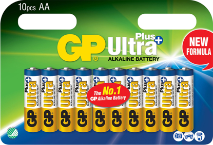 GP ULTRA+ BATTERI 1,5V AA LR06 10PK