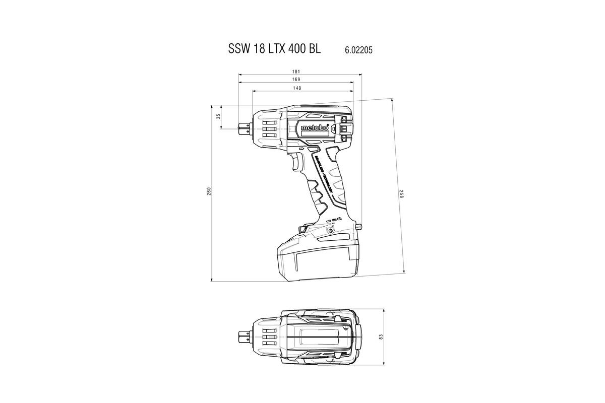 METABO MUTTERTR. SSW 18 LTX 400 SOLO
