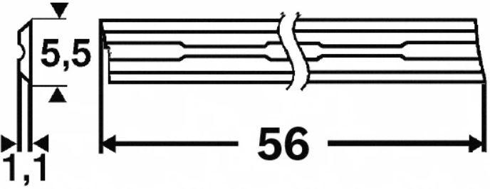 BOSCH HØVELKNIV HM 56MM A2