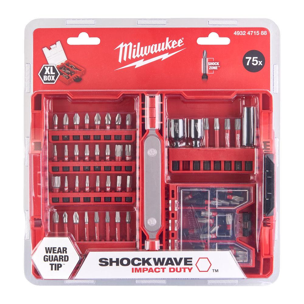 MILWAUKEE BITS SETT SHOCKWAVE CD 75 DELER