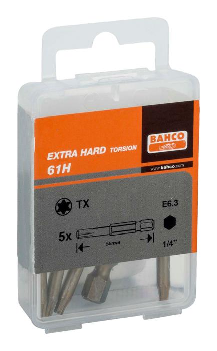 BITS 1/4 T20 50MM EX HARD 5PK