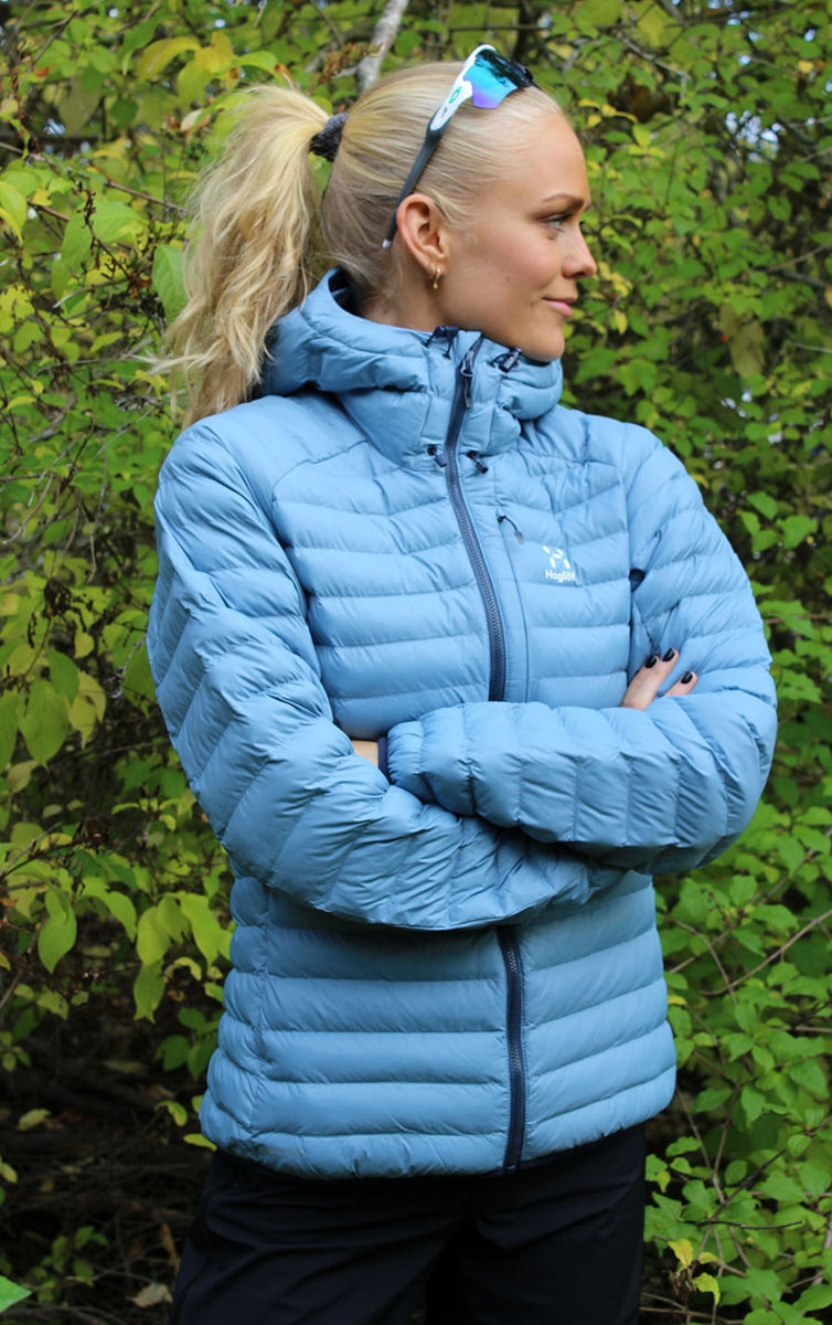 Bilde av Haglöfs  Essens Mimic Hood Women SILVER BLUE