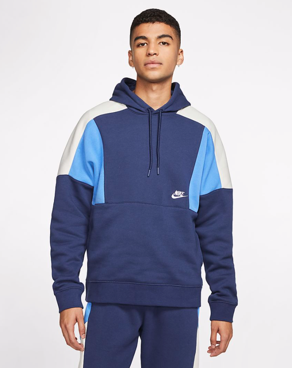 Bilde av Nike m nsw hoodie po bb cb mnnavy/white CK4543-480