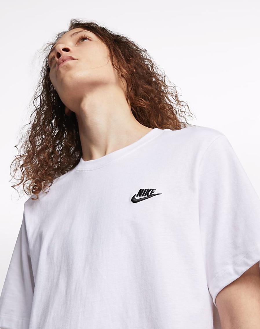 Bilde av Nike m nsw club tee white/black AR4997-101