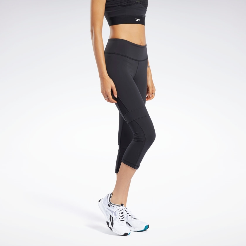 Bilde av Reebok ts lux 3/4 tights 2. black FK7107