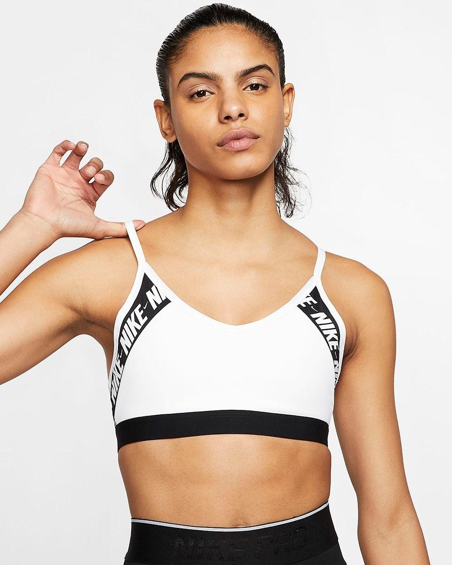 Bilde av Nike indy logo bra black/white CJ0559-100