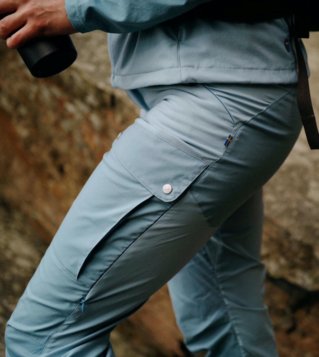 Bilde av Fjällräven  Keb Trousers Curved W Reg 563-562 Clay Blue-Mineral Blue