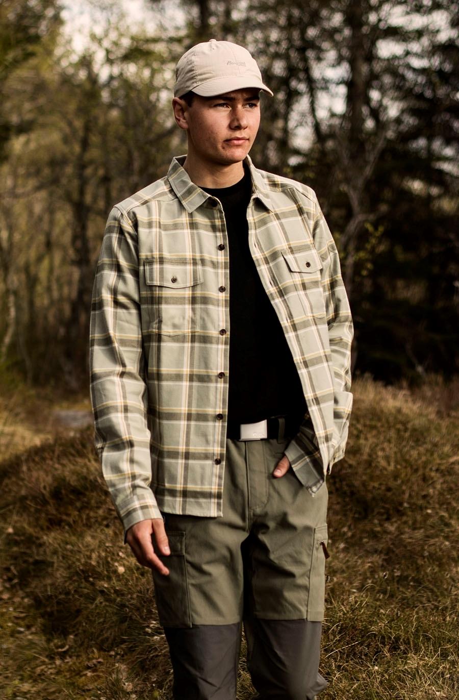Bilde av Bergans  Tovdal Shirt Light Green Mud Check