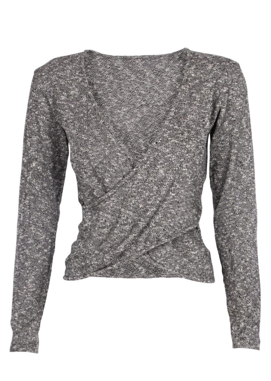 Bilde av Wrap sweater black and white SS20-3-20-22