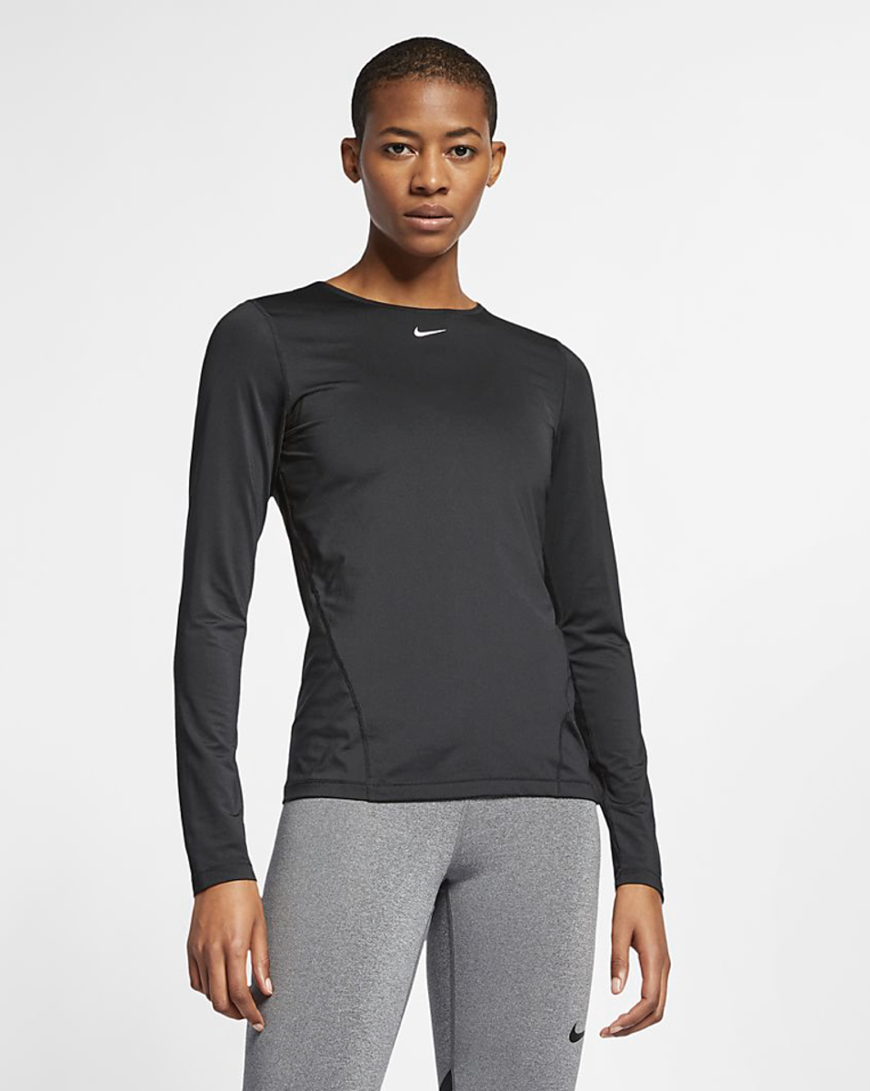 Bilde av Nike  W NP TOP LS ALL OVER MESH AO9949-010