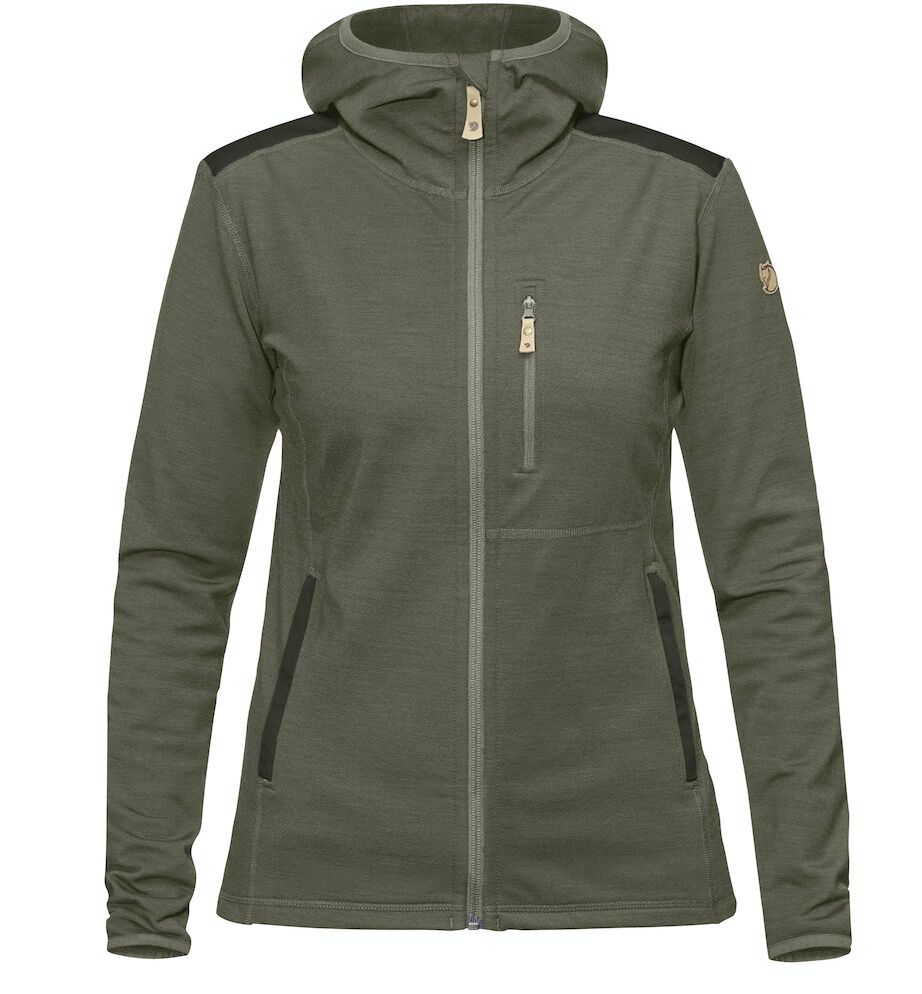 Bilde av Fjällräven  Keb Fleece Hoodie W 625-662 Laurel Green-Deep Forest