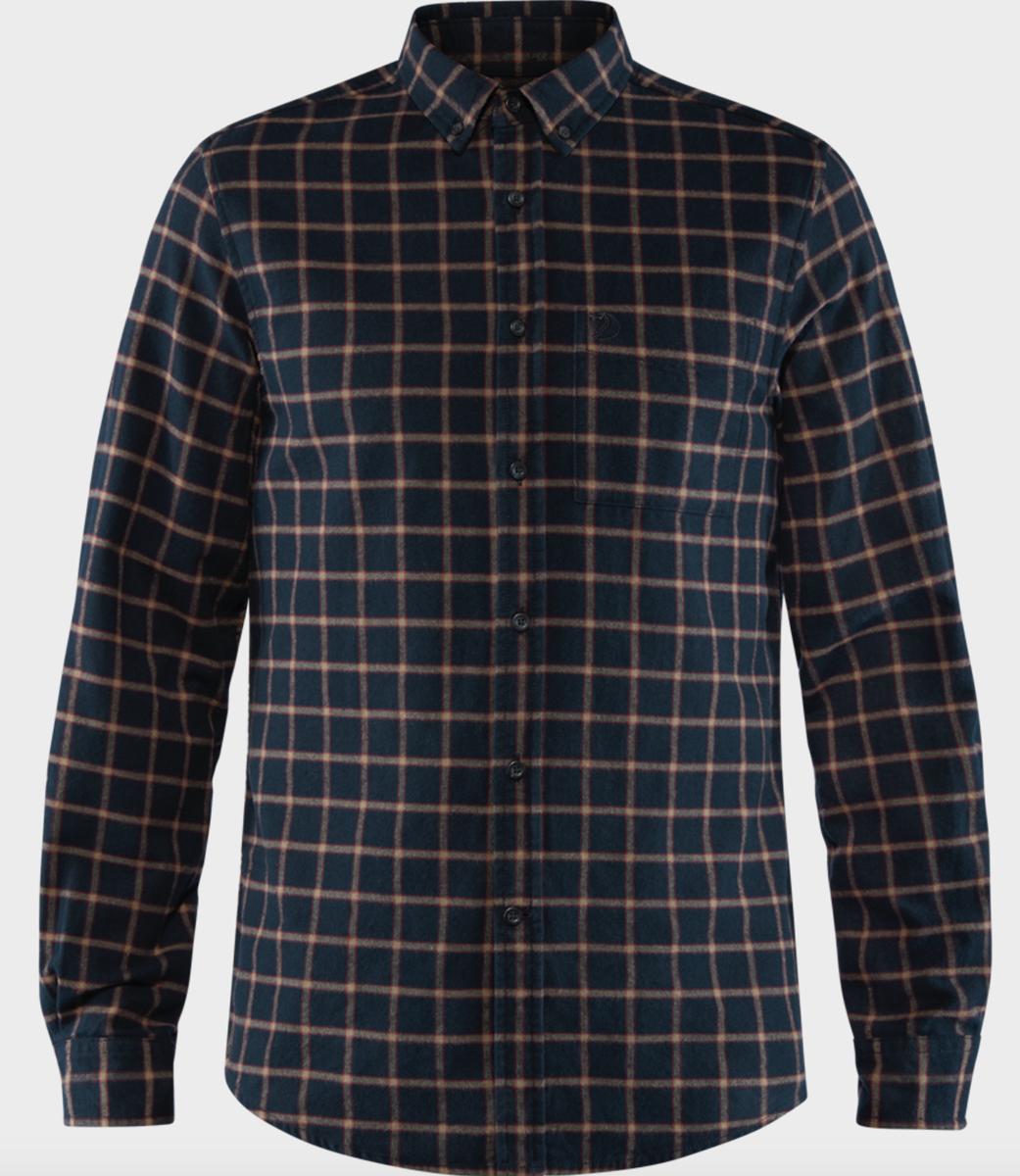 Bilde av Fjällräven  Övik Flannel Shirt M 555 Dark Navy
