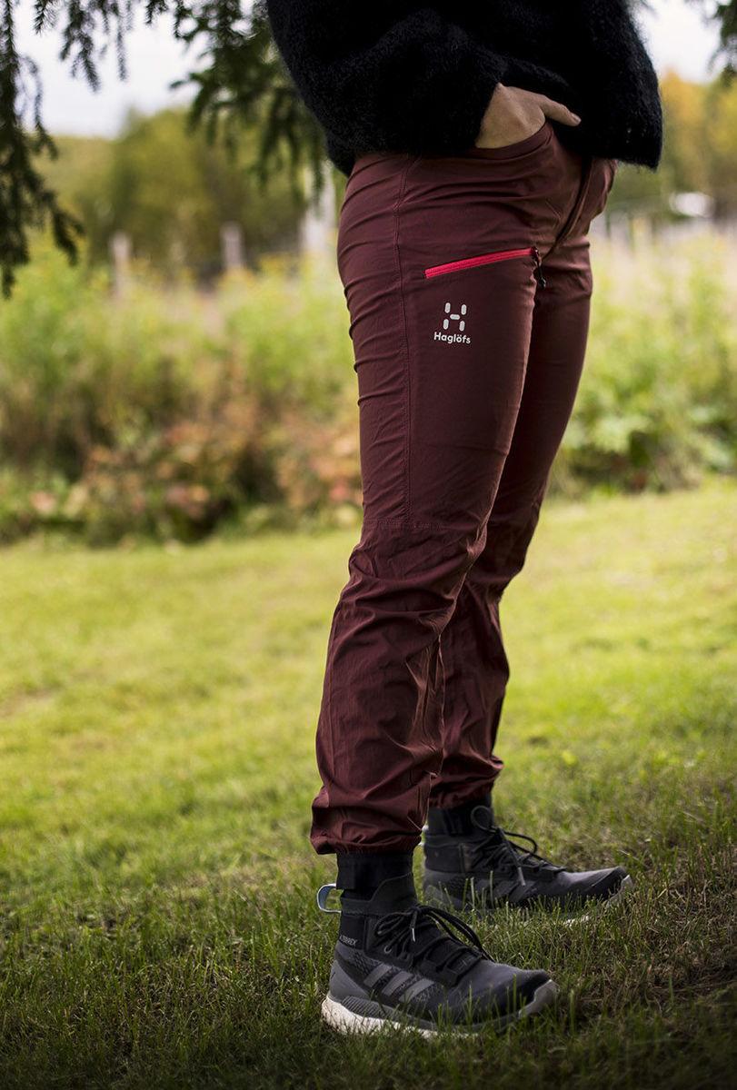 Bilde av Haglöfs  L.I.M Fuse Pant Women 48L Maroon Red