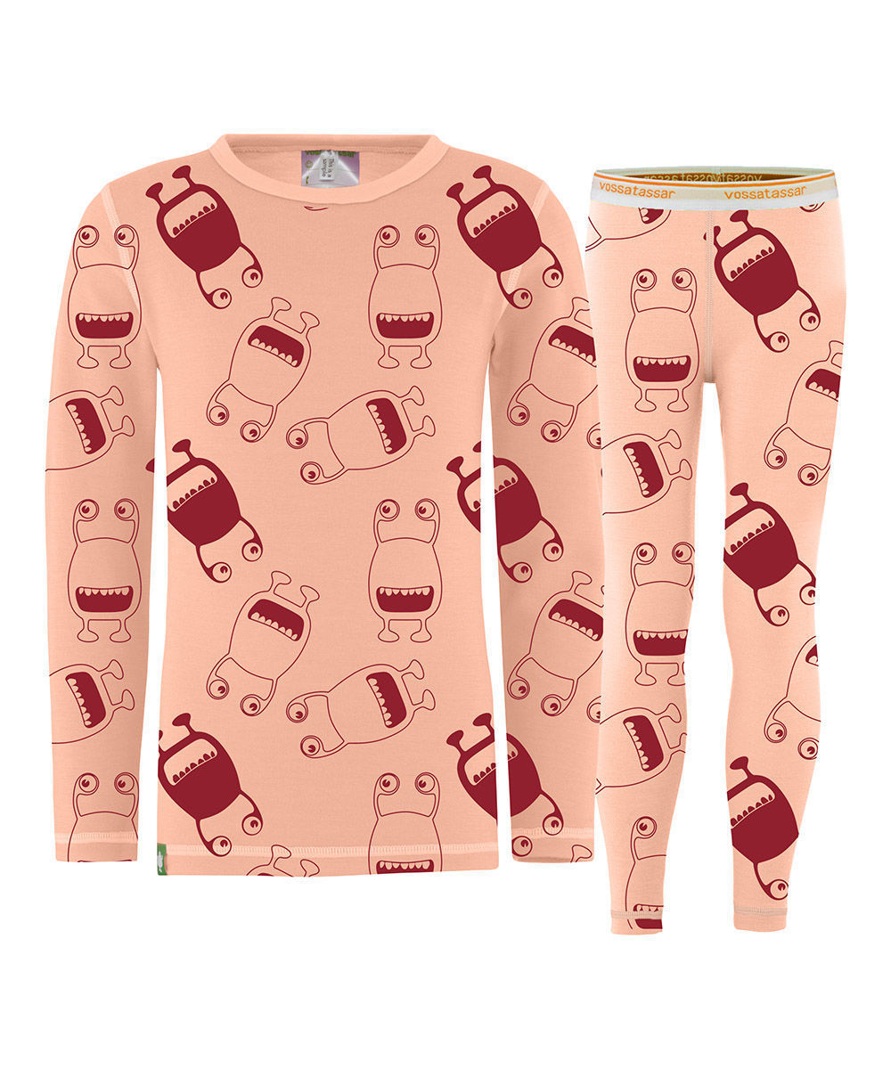 Bilde av Vossatassar Soft Tech Baselayer Set Rose