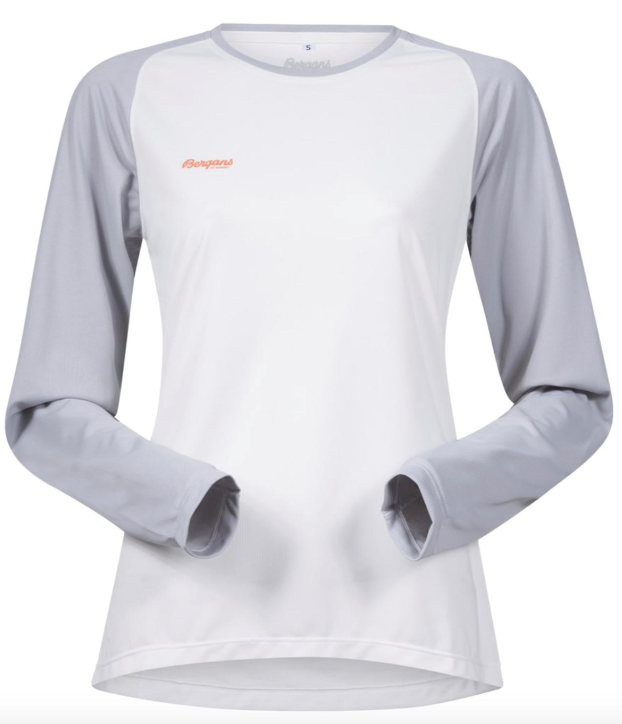 Bilde av Bergans  Slingsby Long Sleeve 9697 White/Alu/Pumpkin