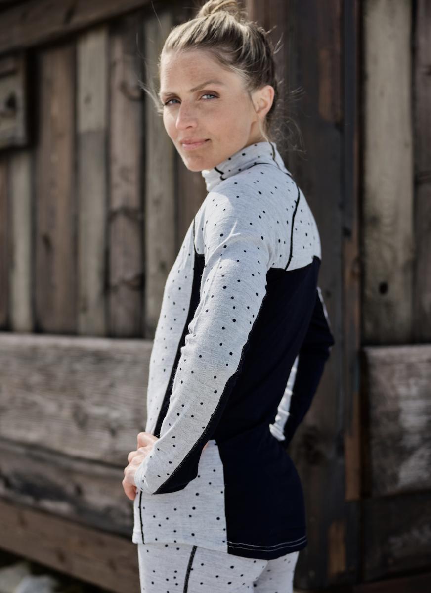 Bilde av Johaug  Maven Wool Half Zip GreyM