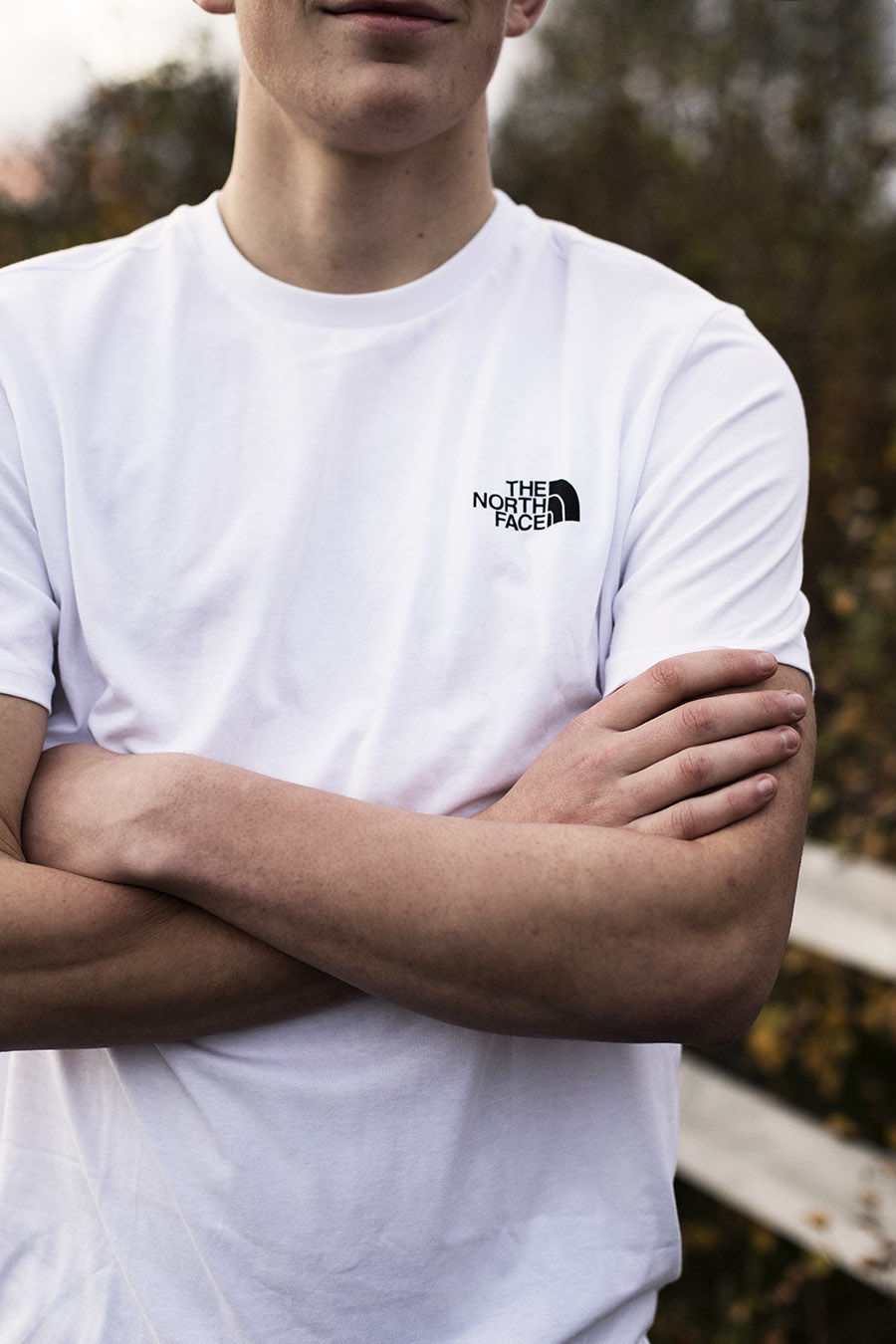 Bilde av The North Face  M S/S SIMPLE DOME TE White